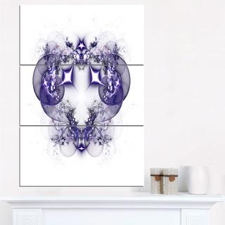 Dark Purple Fractal Flower Design - Large Abstract Canvas Artwork