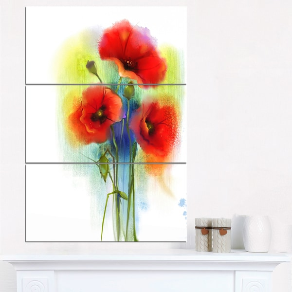 Shop bunch of bright red poppy flowers large flower canvas wall bunch of bright red poppy flowers large flower canvas wall art mightylinksfo