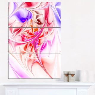 Unique Red Fractal Design Pattern - Oversized Abstract Canvas Art