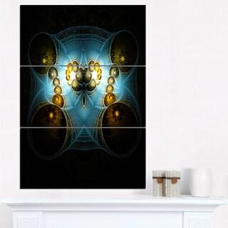 Unique Light Blue Fractal Design Pattern - Oversized Abstract Canvas Art