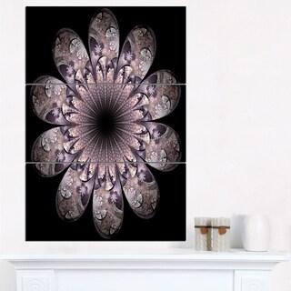 Dark Pink Digital Art Fractal Flower - Large Floral Canvas Art Print