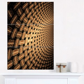 Large Symmetrical Brown Flower - Large Floral Canvas Art Print