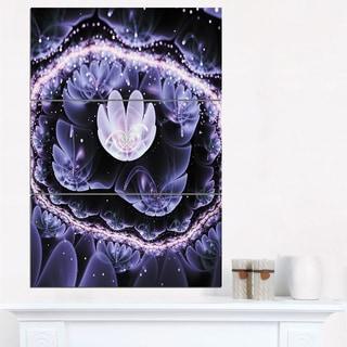 Shiny Fractal Flower with Bokeh Effect - Large Floral Canvas Art Print