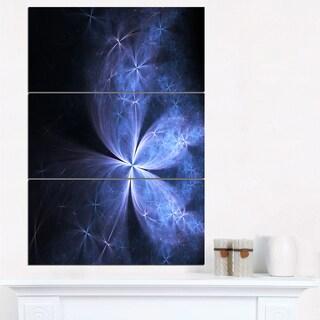 Glittering Soft Blue Fractal Flower - Large Floral Canvas Art Print