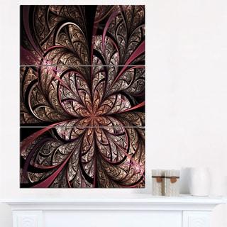 Glowing Large Fractal Flower Design - Large Floral Canvas Art Print