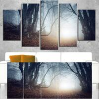 Magical Trees in Mysterious Forest - Modern Forest Canvas Wall Art - White