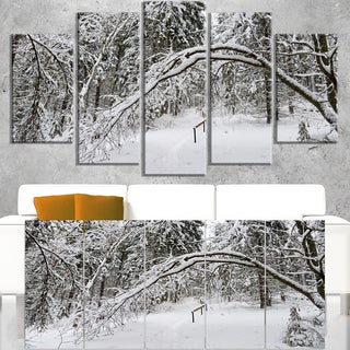 Foggy Black and White Winter Forest - Modern Forest Canvas Art