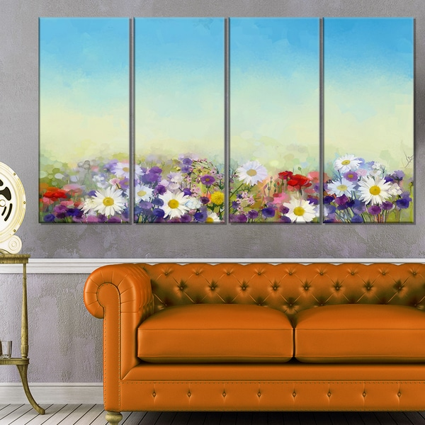 soft flowers in spring background large floral wall art canvas