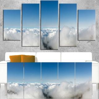 Bright Blue Sky above Clouds - Contemporary Landscape Canvas Art