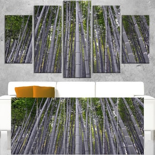 Thick Bamboo Trunks in Japan - Forest Canvas Wall Art Print