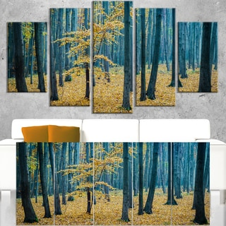 Dense Autumn Beach Forest - Oversized Forest Canvas Artwork