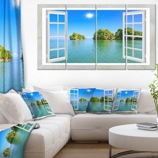 Open Window to Ocean Islets - Oversized Landscape Wall Art Print