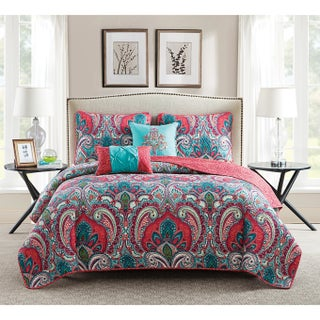 VCNY Home Casa Real Reversible 5-piece Quilt Set (4 options available)