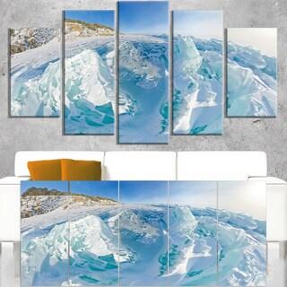 Blue Ice Mountains in Lake Baikal Siberia - Landscape Artwork Canvas