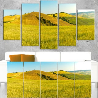 Tuscany Wheat Field on Sunny Day - Landscape Print Wall Artwork