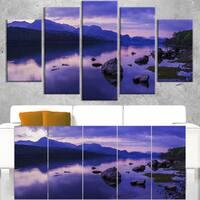 Coniston Water in the Lake District - Landscape Artwork Canvas - Multi-color