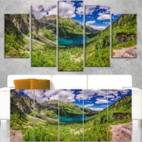 Discontinued product - Landscape Wall Art Canvas Print - Green
