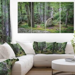 Dense Moss Forest in Green - Landscape Art Print Canvas