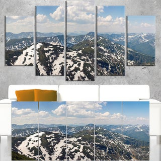 Green Mountains in Spring Panorama - Landscape Artwork Canvas