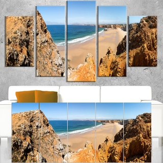 Rocky Bay Portugal Panorama - Landscape Wall Art Canvas Print