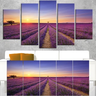 Lavender Field in Provence France - Oversized Landscape Wall Art Print