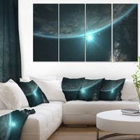 Sunrise in Earth from Space - Contemporary Landscape Canvas Art