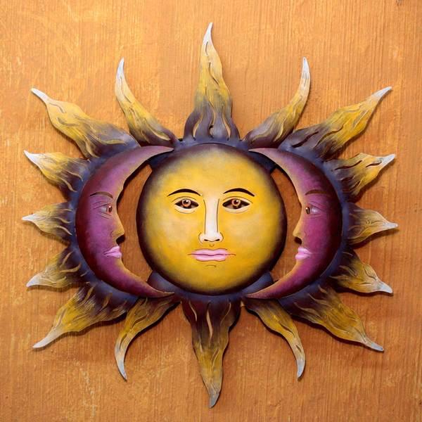 Handmade Steel 'Beloved Sun' Wall Art (Mexico)