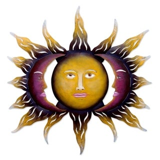 Handcrafted Steel 'Beloved Sun' Wall Art (Mexico)