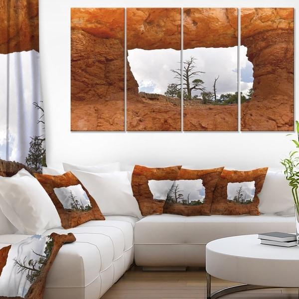 Sky Through Red Canyon Window Contemporary Landscape Canvas Art