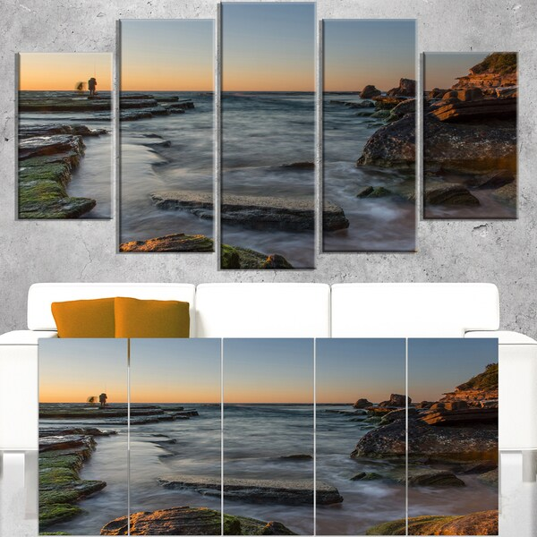 Sydney Sunrise Over Seashore - Seashore Canvas Wall Artwork