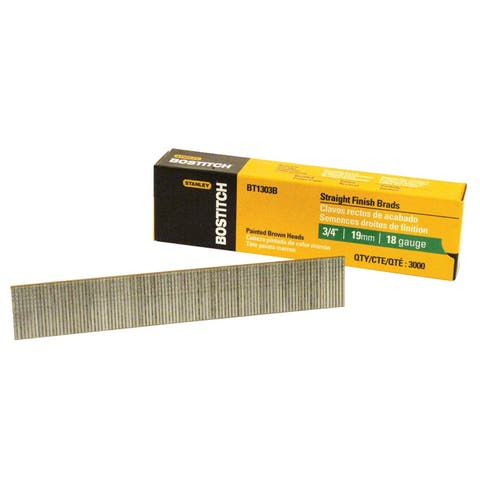 Bostitch Stanley BT1303B 3/4-inch Brad Nails (Pack of 3000)