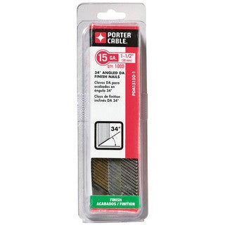 Porter Cable PDA15150-1 1.5-inch 15 Gauge Senco Type Angle Finish Nails (Pack of 1000)