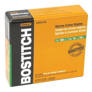 Bostitch Stanley SX50357/8G 7/8-inch Galvanized Staples (Pack of 5000)