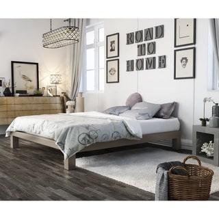 Vesta Champagne Metal Platform Bed