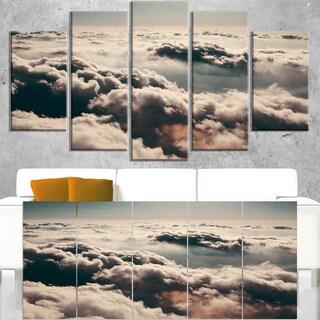 Sky above Dark Heavy Clouds - Contemporary Landscape Canvas Art