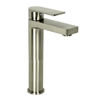 Adrian Style Brushed Nickel Solid Brass Single-hole Lever Bathroom Vanity Lavatory Faucet