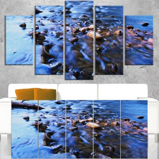 Rock Blue River Panorama - Oversized Beach Canvas Artwork