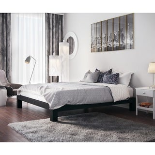 vesta black metal slatted platform bed