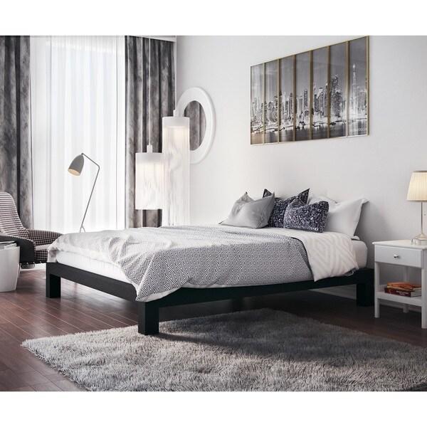Vesta Black Metal Slatted Platform Bed Free Shipping