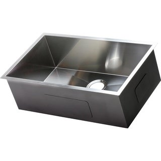 hardy stainless steel single bowl undermount farmhouse sink ada compliant kitchen sinks for less   overstock com  rh   overstock com
