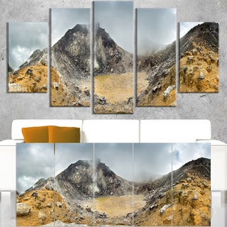 Volcano Panorama with Dramatic Sky - Landscape Wall Art Canvas Print