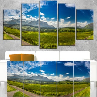 Scottish Highlands Panoramic View - Landscape Wall Art Canvas Print