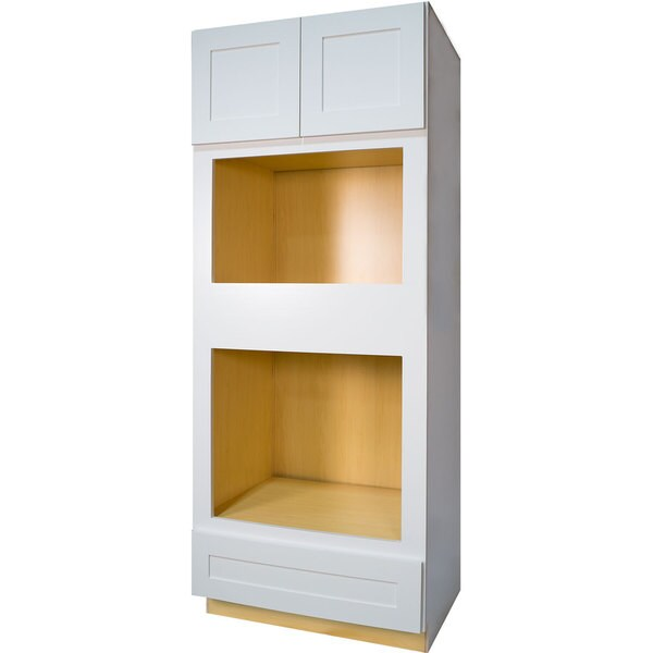 Everyday Cabinets White 33 Inch Shaker Oven And Microwave