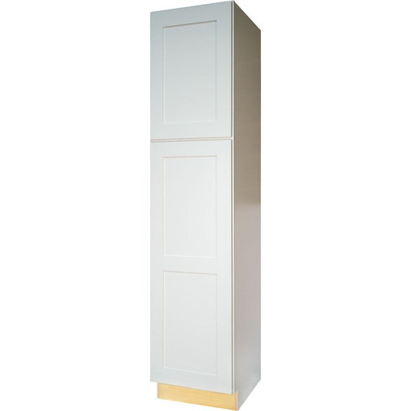 Everyday Cabinets White Wood 18 Inch Shaker Pantry/Utility Kitchen Cabinet
