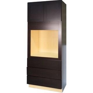 Everyday Cabinets Dark Espresso 33-inch Shaker Universal Oven Kitchen Cabinet