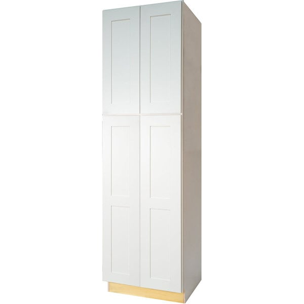 Everyday Cabinets Shaker Style White 30 Inch Pantry