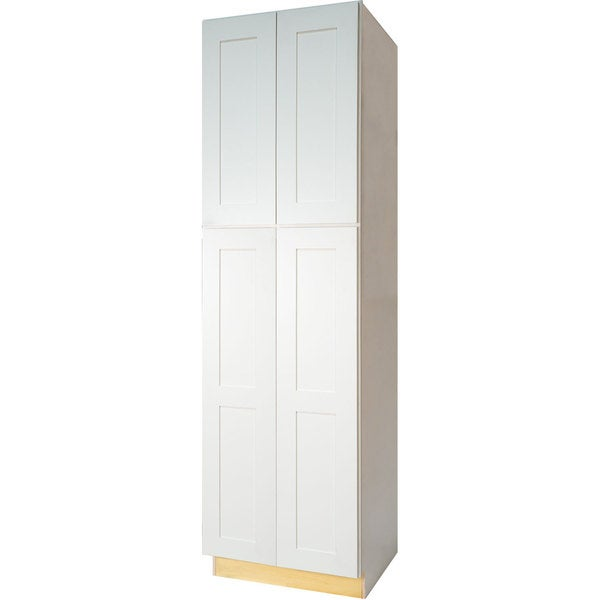 Everyday Cabinets Shaker Style White 30 Inch Pantry Utility Kitchen Cabinet Free Shipping