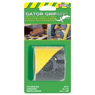 "Incom RE175 2"" X 5' Yellow & Black Gator Grip Anti Slip Safety Grit Tap"