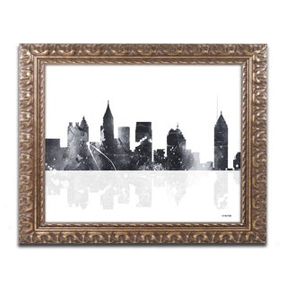Marlene Watson 'Atlanta Georgia Skyline BG-1' Ornate Framed Art