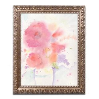 Sheila Golden 'The White Vase' Ornate Framed Art